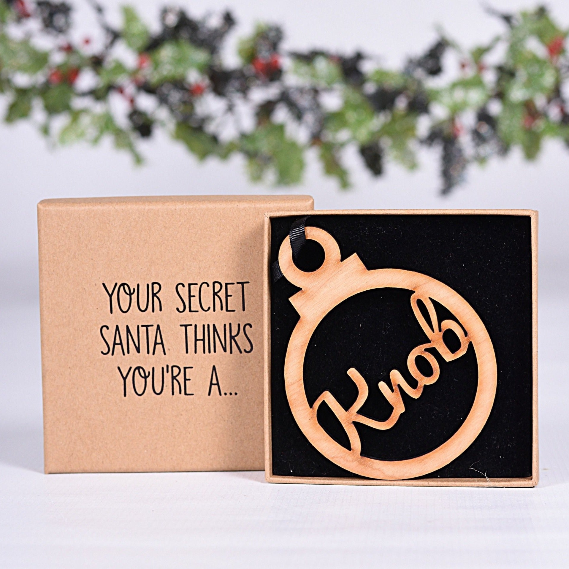 Secret Santa Knob Bauble & Box