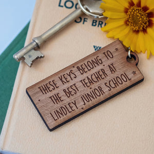 Best Teacher School Keyring