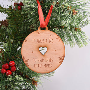 It Takes a Big Heart Tree Decoration