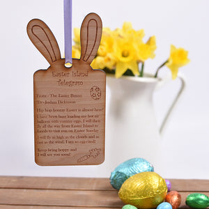 Wooden Telegram from the Easter Bunny