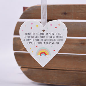 Friend Rainbow Hanging Heart