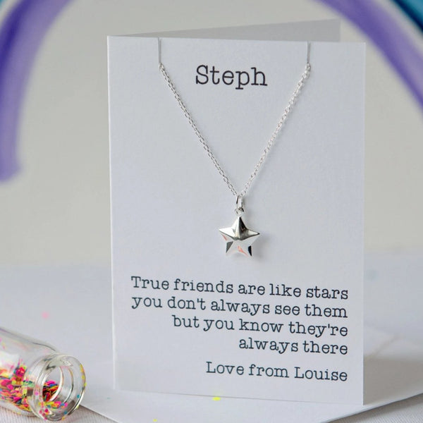 Friends are like stars necklace