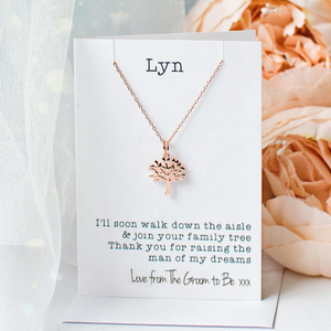 Mother of the Bride tree necklace - Rose Gold
