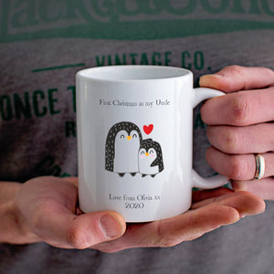 First Christmas as my Uncle Penguin Mug