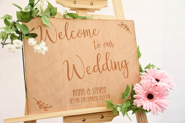 Wedding Welcome Sign - Iris Design