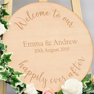 Wedding Welcome Sign - Fairytale Design