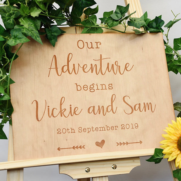 Wedding Welcome Sign - Wanderlust Design