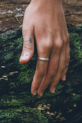 (SALE) Bubble crown ring ~ (polished silver)