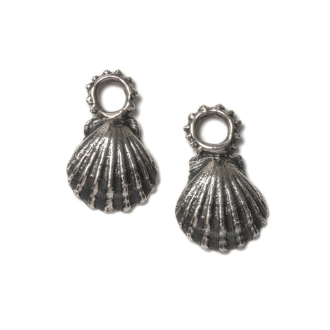 Crab claw earrings ~ (polished silver)