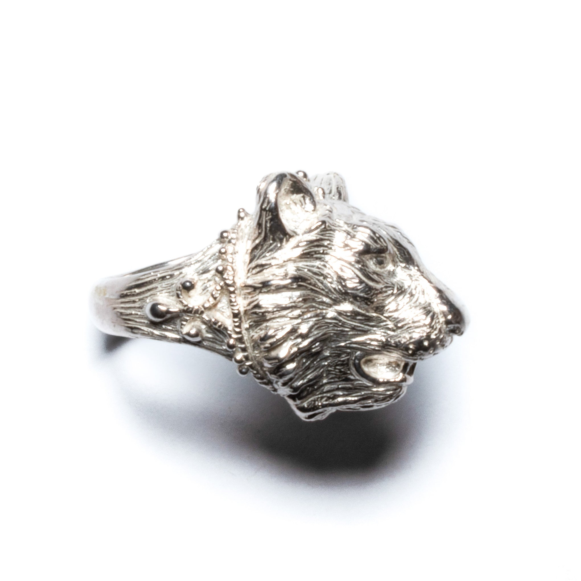 Tiger ring ~ (polished silver)