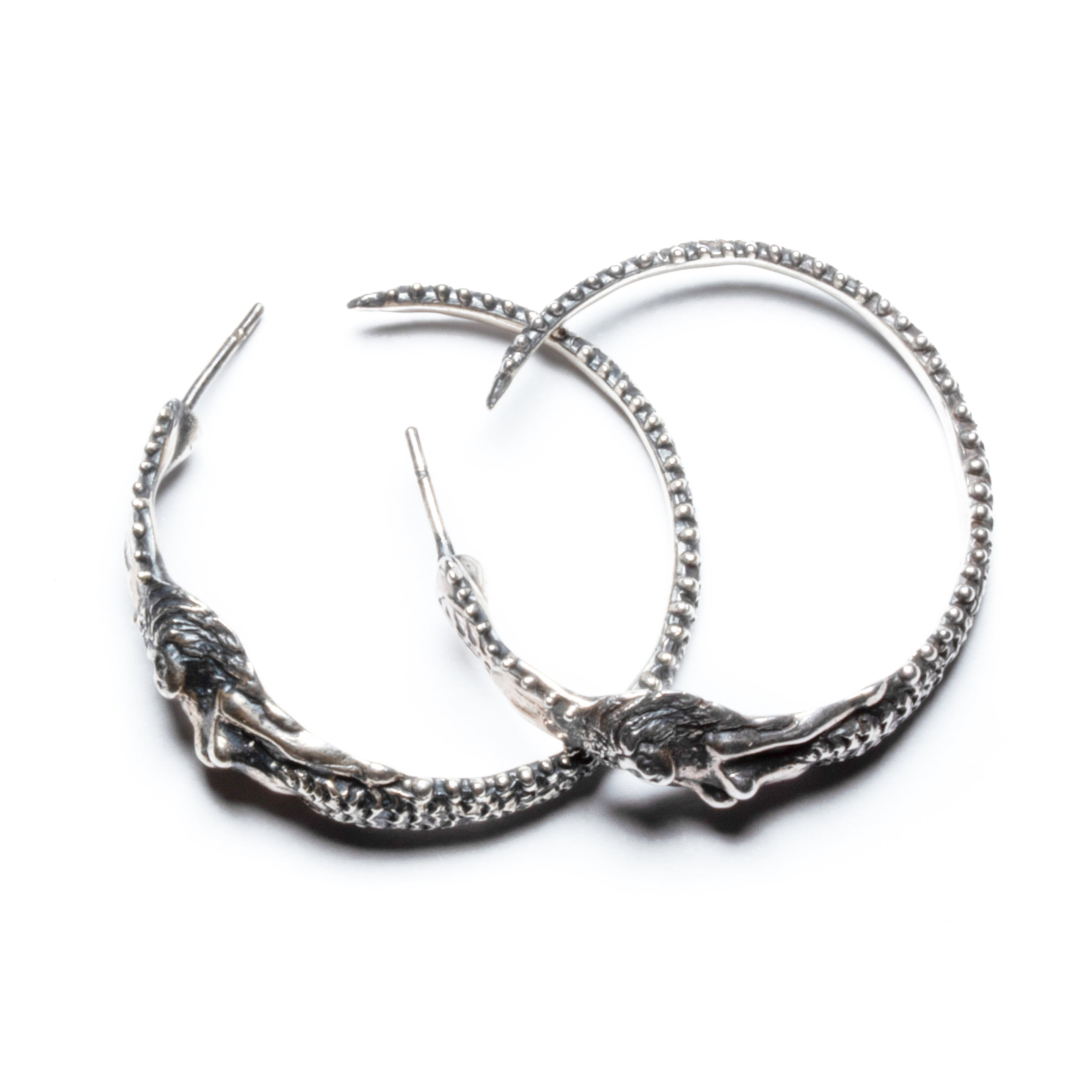 Angitia hoop earrings ~ (blackened silver)