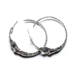 Angitia Hoop Earrings (Blackened Silver)