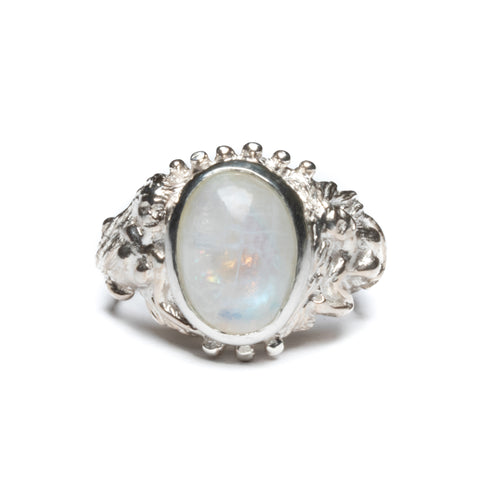 Angitia Mesi Sisters Ring (with Moonstone)