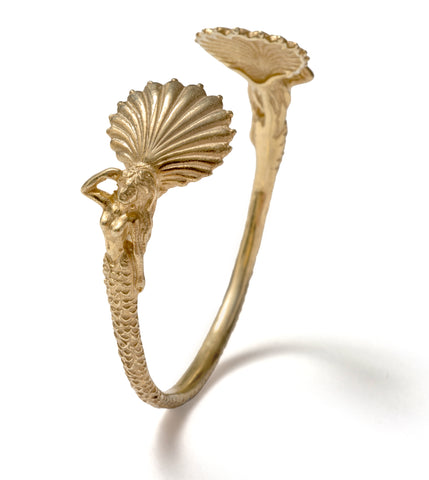 (SALE) Angitia shell cuff bangle ~ (gold)