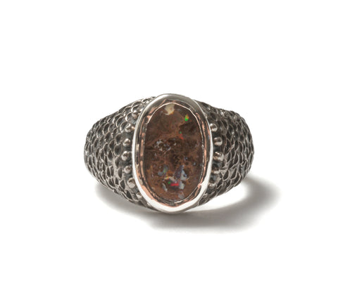 (SALE) Boulder opal fish ring