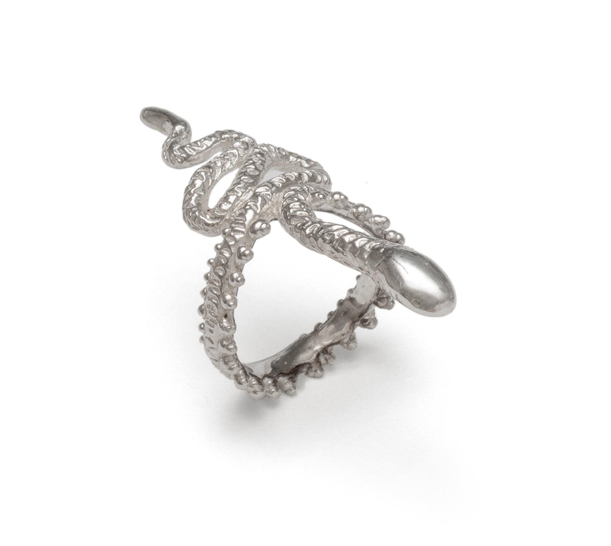 Snake ring ~ (polished silver)