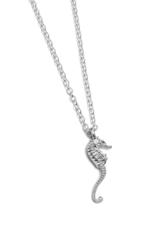 (SALE) Tiny seahorse necklace ~ (polished silver)