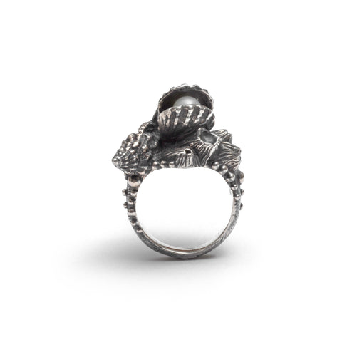 Snake ring ~ (blackened silver)