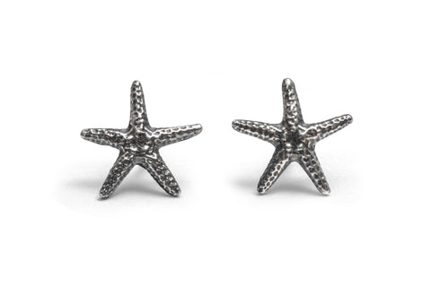 Starfish earrings ~ (polished silver)