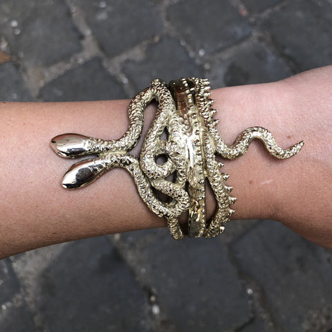 Brass Snake Bangle