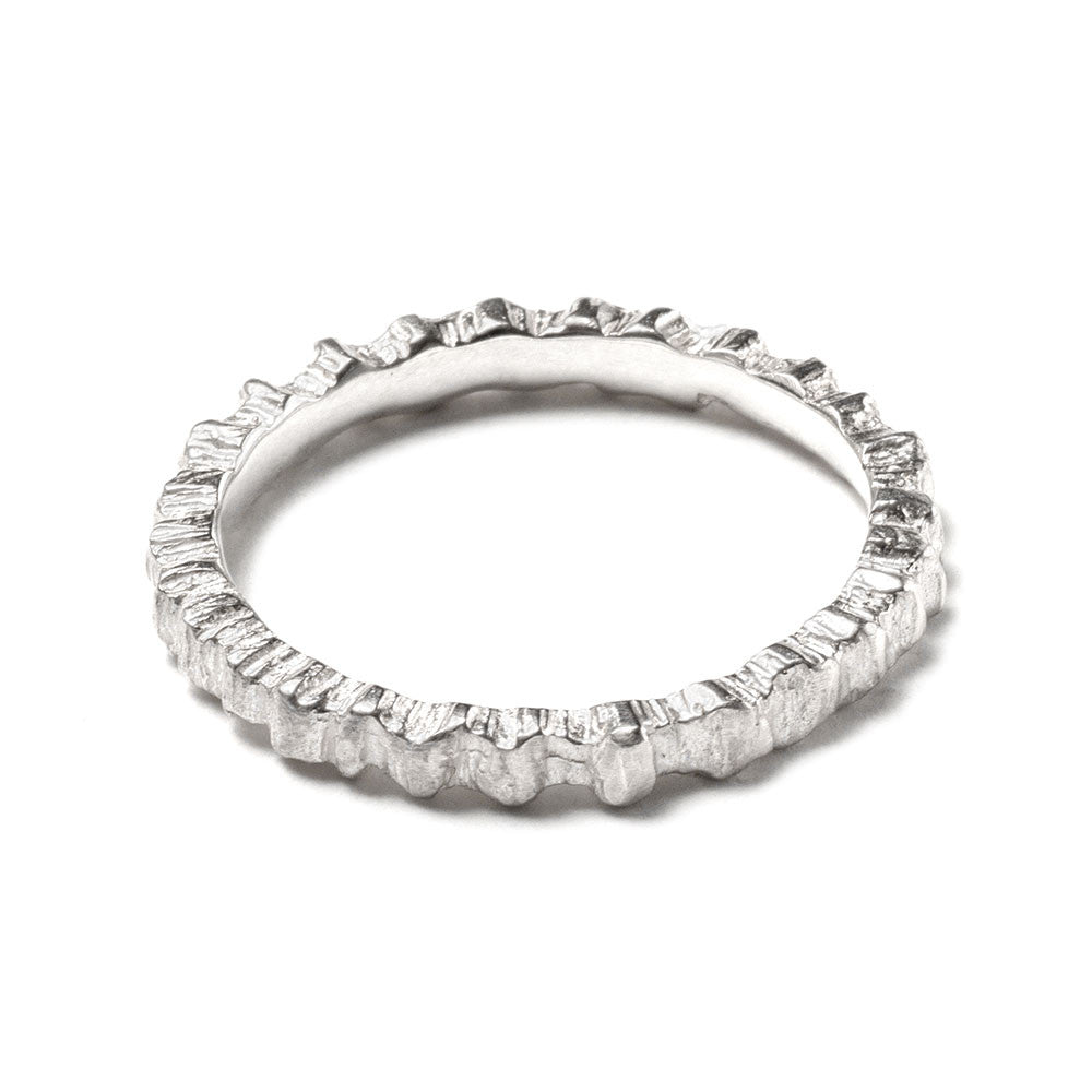Sea cog stacking ring ~ (polished silver)