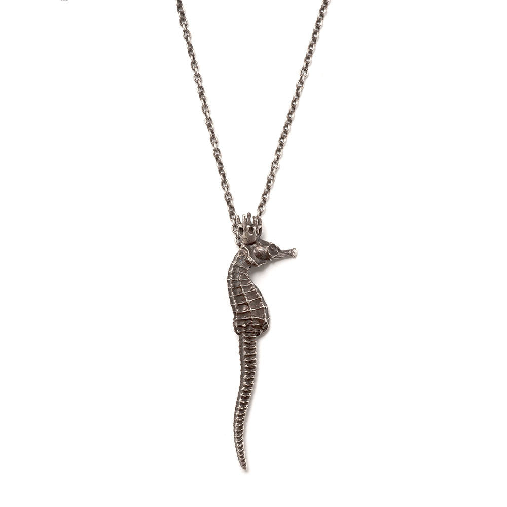 Queen seahorse necklace ~ (blackened silver)