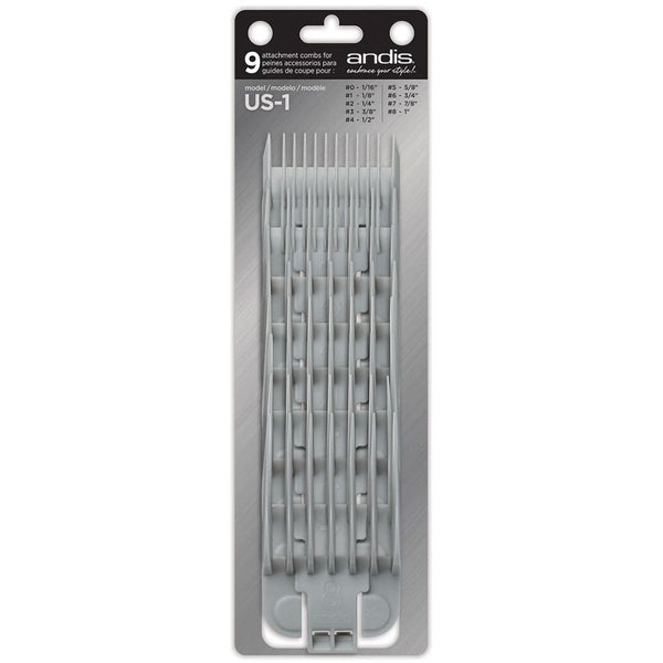 ANDIS 9 ATTACHMENT IN-1 REPLACEMENT COMB SET
