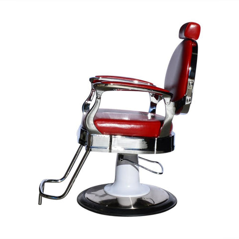 Barber Chair [Styling] Roma Red Classic and Elegant