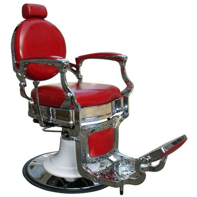 Barber Chair [Styling] Dallas Red Classic and Elegant