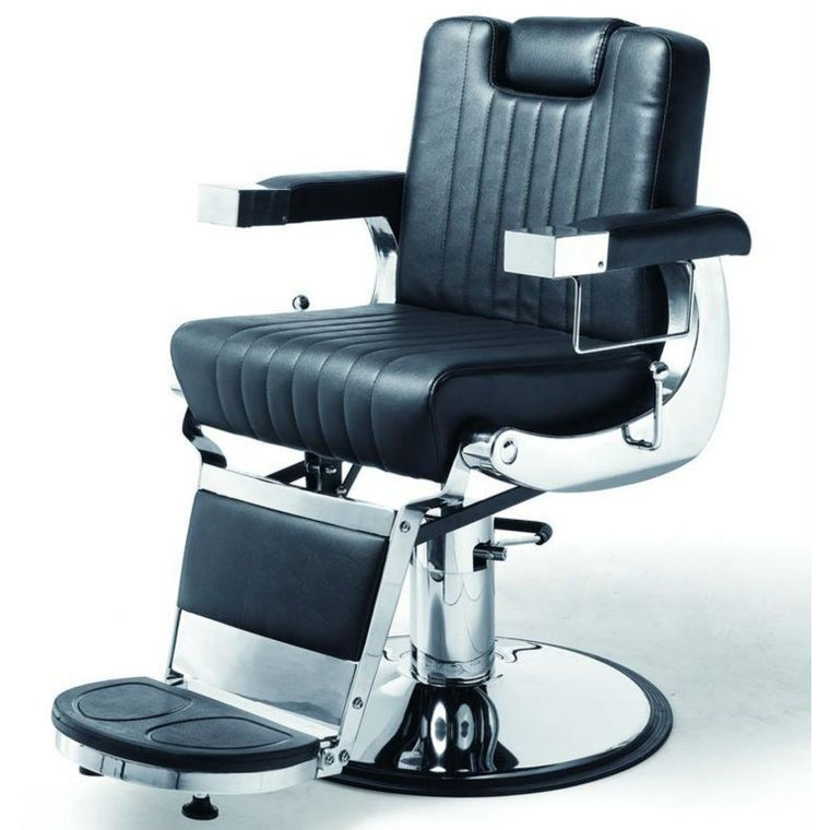 Chicago Style Barber's Chair Black