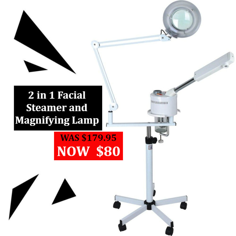 2 in 1 Magnifying Lamp and Facial Steamer