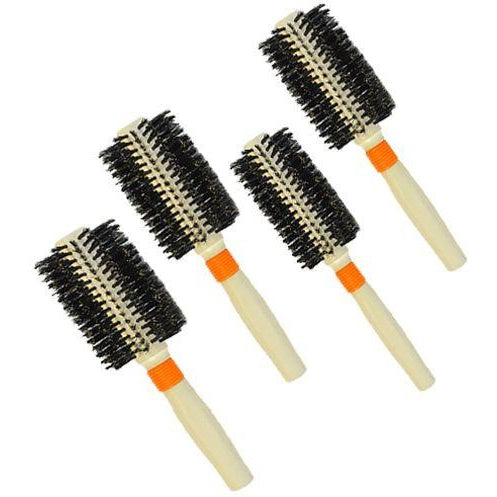 Pack of 4 Round Boar Bristle Brushes