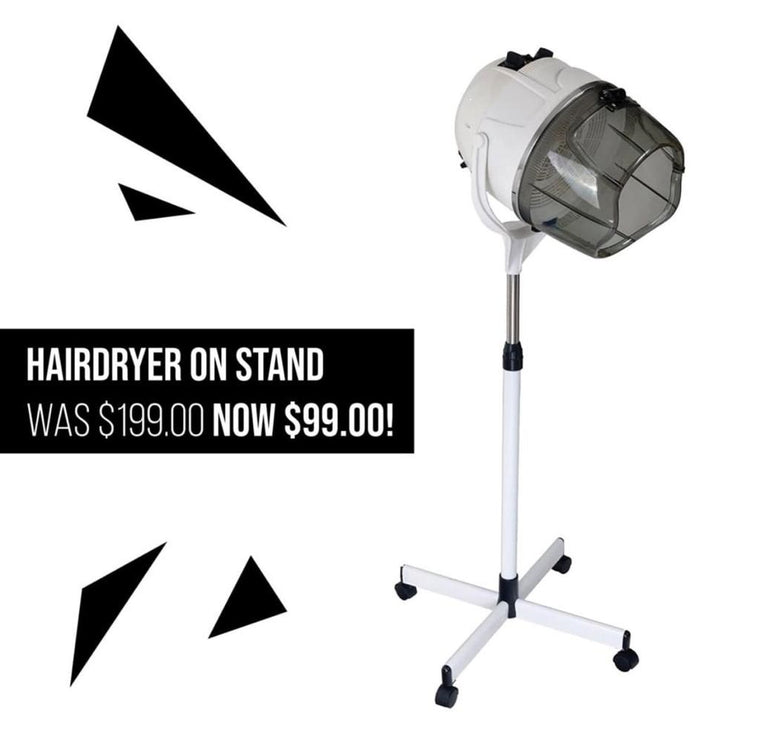 Hairdryer on Stand<br>White Only<br/>