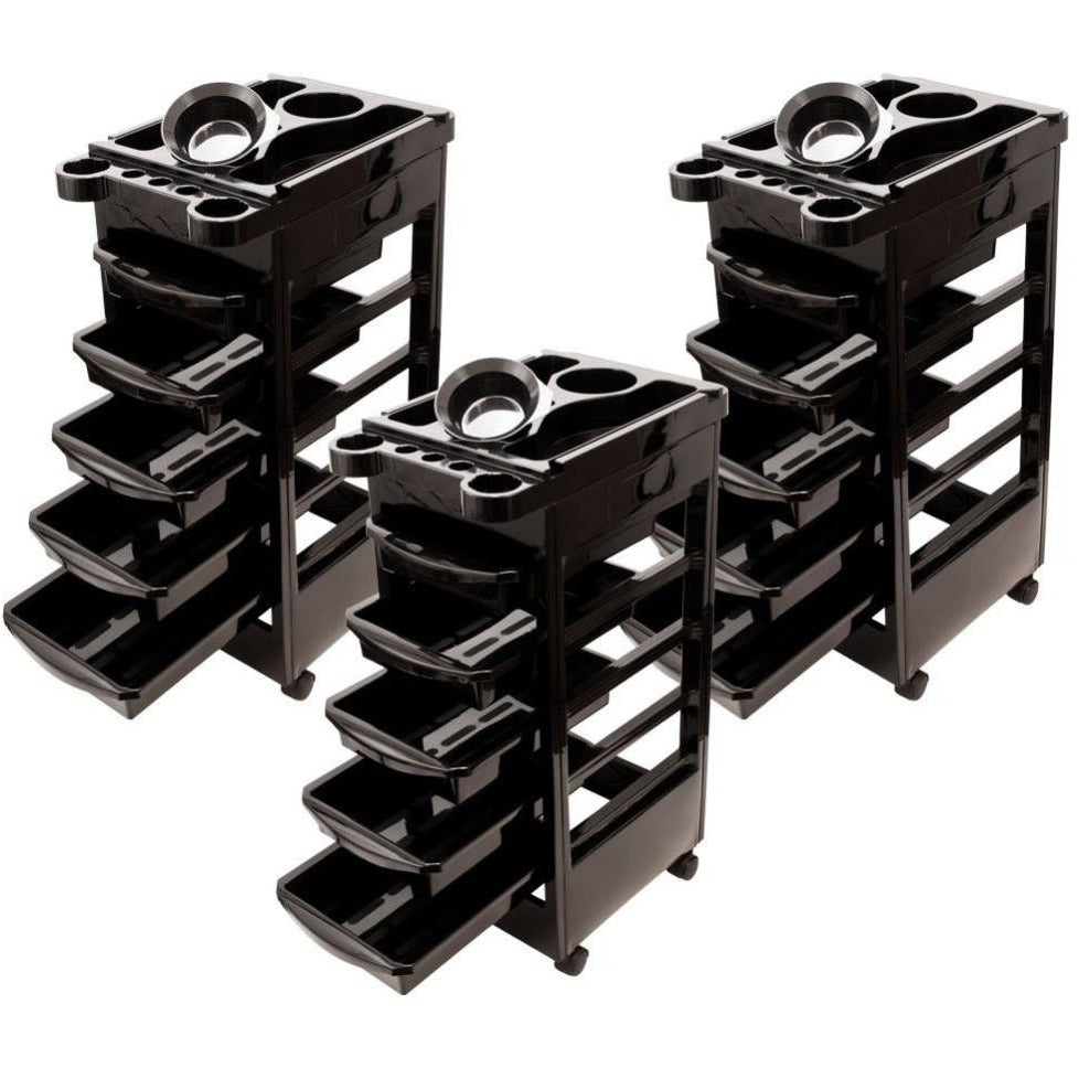 Hair Colouring Trolleys Three  Pack