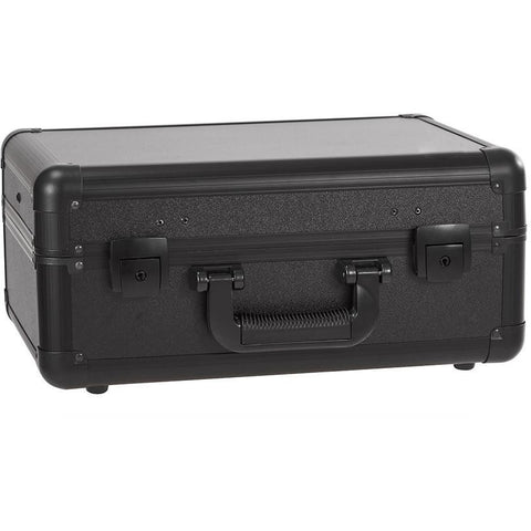 Makeup Case On Castors Wheels with Lights (BLACK)