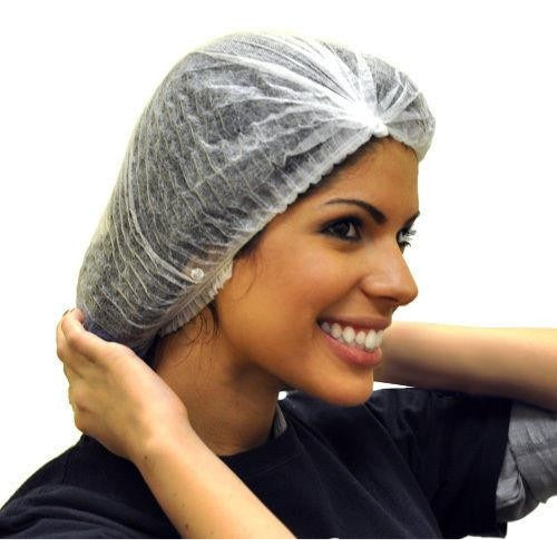 Disposable White Hair Nets 100 Pieces