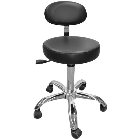 Round stool with Back Rest Range