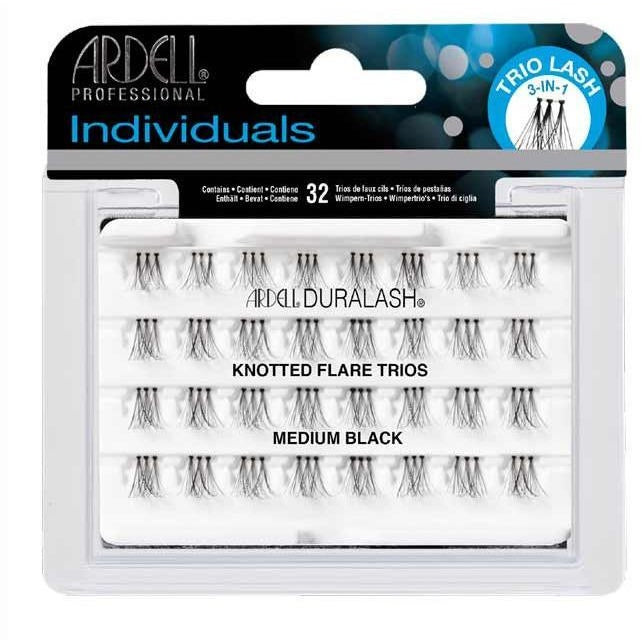 Ardell Individual Knotted Flare Trios Medium Black Eyelash Extensions