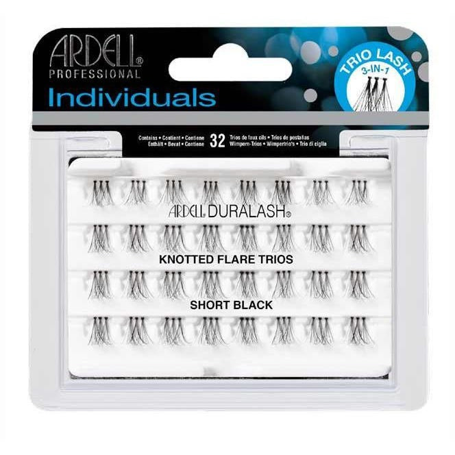 Ardell Individual Knotted Flare Trios Short Black Eyelash Extensions