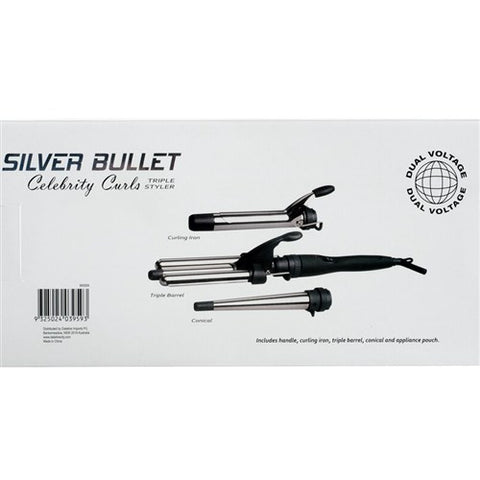 Silver Bullet Celebrity Curls Triple Curling Iron