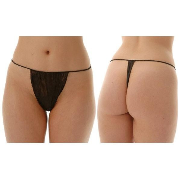 Disposable Black G String 120 Pack