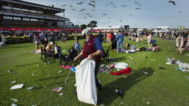 The aftermath of The Melbourne Cup 2016, Flemington Racecourse in Melbourne.  Image credit: Simon O'Dwyer