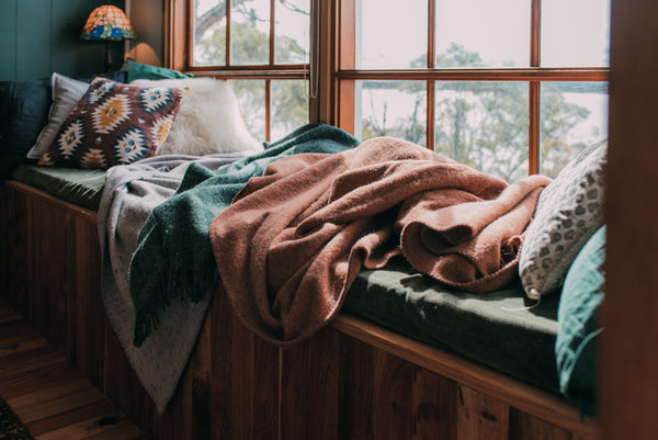 Seljak blankets at Coldwater Cabin