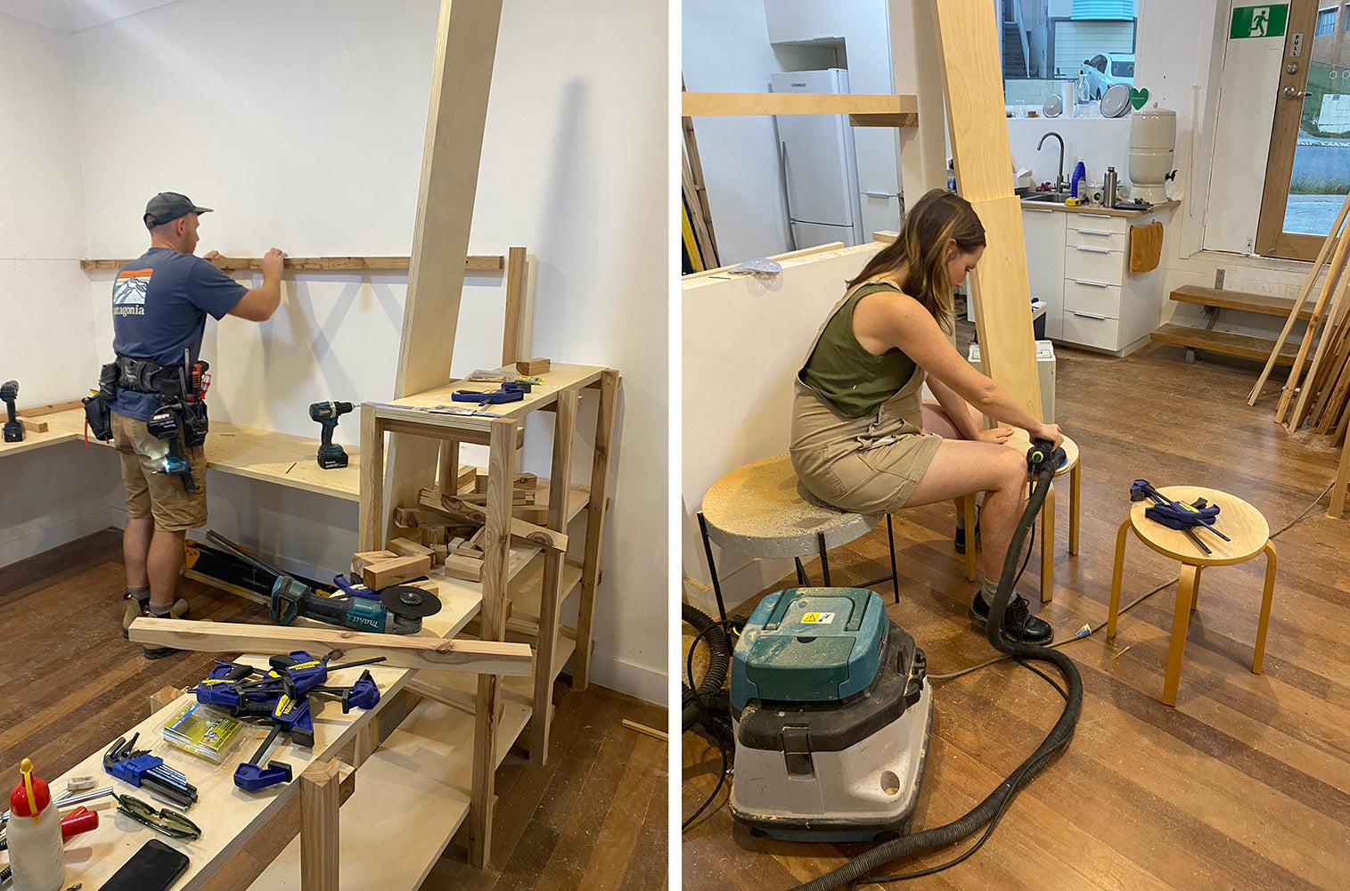 Building and sanding