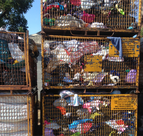Textiles waste in the tonnes