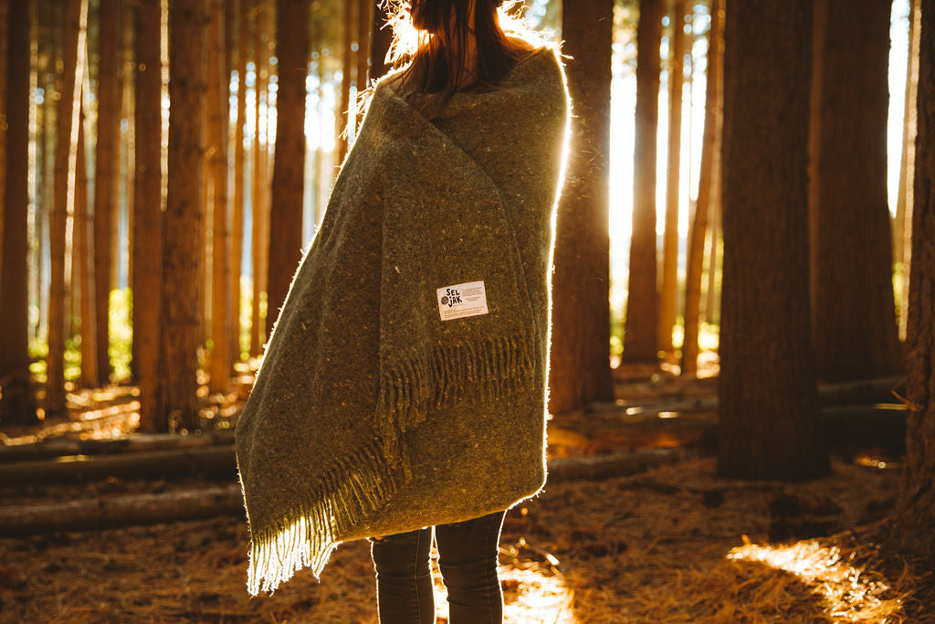 Moss blanket fringe outdoor