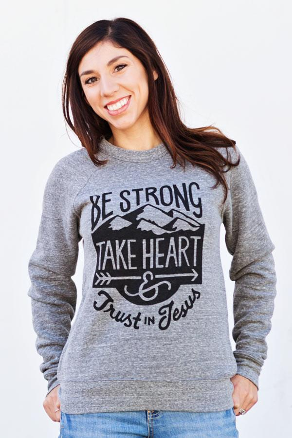 Be Strong Crewneck Sweatshirt