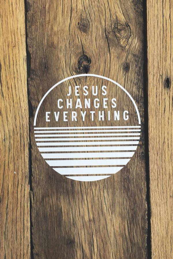 Jesus Changes Everything Decal 1
