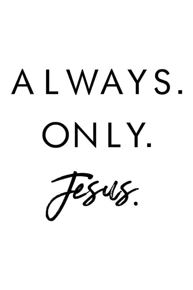 Womens Always. Only. Jesus. Crop Flowy Tee
