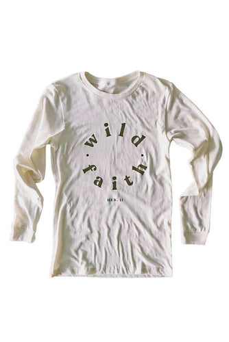 Wild Faith Natural Longsleeve Tee
